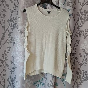 Express knitted white sweater sz M